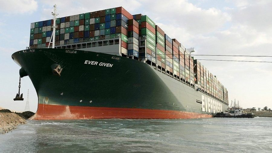Some Success in Freeing the Cargo Ship Blocking the Suez Canal