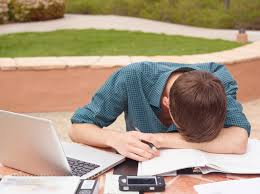 A student stressed out. Image from theaxiom.ca
